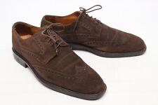 Cole Haan Hombre Wingtip Zapatos 8.5M Piel ante Marrón Shortwing Oxford Blücher