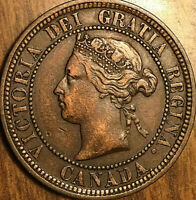 1876H CANADA LARGE CENT PENNY LARGE 1 CENT COIN - Excellent example!