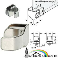 Hafele Nickel Plated Glass Door Pull Glass Thickness 4-5mm, Push Fit NO DRILLING