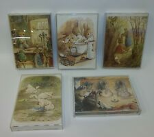 Set 5 Vintage Beatrix Potter Peter Rabbit Acrylic Self Standing Picture Prints