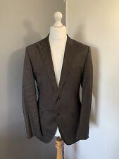 "Men's Hugo Boss Chest 44"" - Ramie Blend Brown Jacket Blazer Smart Formal"