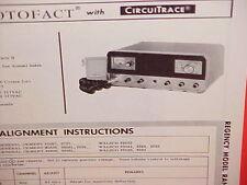 1967 REGENCY CB RADIO SERVICE SHOP MANUAL MODEL RANGE GAIN II