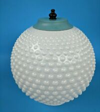 Vintage Hobnail White Glass Lamp Shade Globe Dome & Ceiling Light Fixture
