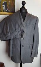 Marks & Spencer Italian Super 100s Wool Black Mix Suit - Jkt 42/M Trs W38 L29