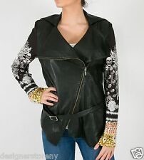 Camilla Franks State Of Disorder Leather Jacket High Collar Swarovski Crystals