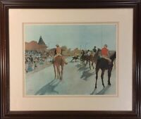 """Edgar Degas Print: """"Racehorses Before the Stands"""""""