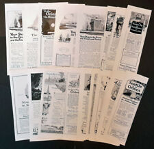 1921-1925 United States Shipping Board - Lot of 19 vintage Original AD Cruise