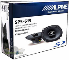 "Brand New Alpine Type-S SPS-619 170W RMS 6x9"" 3-Way Coaxial Speakers"