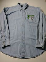 Warner Bros Studio Store Mens Denim Shirt Size 2XL XXL Blue Bugs Bunny Suave