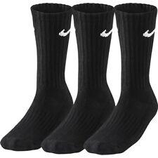 3 PACK-  NIKE Sports Socks Pairs Mens Womens Unisex - Black - 3 Pairs