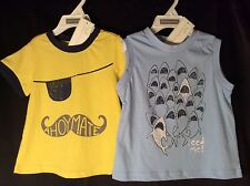Nwt Toddler Boys First Impressions Shirts 18m 2pc Pirate Sharks Ahoy Mate New