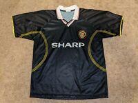 Vtg Manchester United Sharp Football Club Soccer Jersey Mens XL