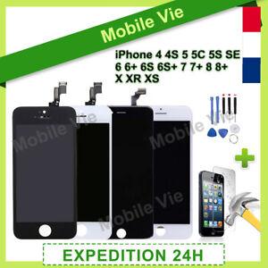 VITRE TACTILE + ECRAN LCD RETINA IPHONE 4/5S/SE/6/6S/7+/8+/XR/XS MAX/11 PRO MAX