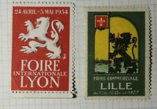 intl Lyons Fair WW Exposition Poster Stamp Ads 1954