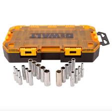 DEWALT 1/4 inch Drive Deep Socket Set 20 Piece Sockets Tool Metric SAE 6 Point