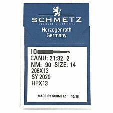 10 Pk. Schmetz 206X13 Hpx13 Size 14 Flat Shank Needles For Singer 206, 306, 319