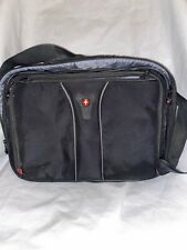 BLACK Swiss Gear Wenger Laptop iPad Tablet Briefcase Case Carrying Messenger Bag