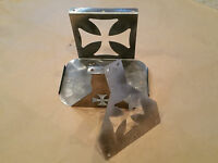 Optima 34/78 Battery box mount tray hold down Iron Cross - Stainless Steel