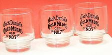 "Jack Daniel's Gold Medal Old ""NO.7"" Short glass tumblers"