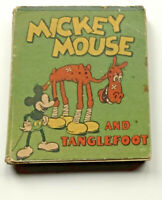 Vintage early Mickey Mouse & Tanglefoot book 1934 Walt Disney