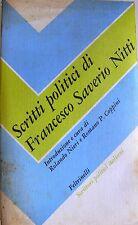 NIERI COPPINI SCRITTI POLITICI DI FRANCESCO SAVERIO NITTI FELTRINELLI 1980