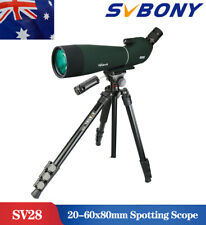 SV28 25-75x70mm Angled Zoom Spotting Scope Waterproof Telescopes & Phone Adapter
