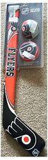 Philadelphia Flyers NHL Soft Ice Hockey Stick Ball & Rondelle Lot