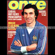 ONZE N°73 MAXIME BOSSIS MICHEL HIDALGO KARL-HEINZ RUMMENIGGE GENGHINI UEFA 1982
