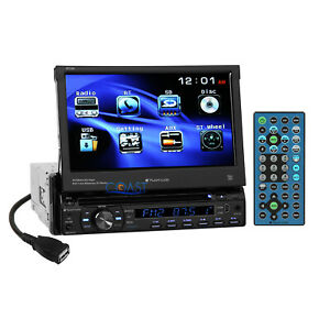 "Planet Audio 7"" Motorized Touchscreen DVD USB Bluetooth Car Stereo Receiver"