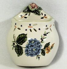 Princess House Vintage Garden Wall Pocket Planter Blue Hydrangea Cottage Chic