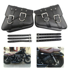 PU Leather Motorcycle Saddle Bags Saddlebag Luggage Bag For Sportster 883 Dyna