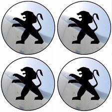 4 stickers PEUGEOT chrome 40 à 100 MM centre jantes 205 206 106 306 307 PARTNER