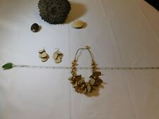 smooth Tagua vegetable ivory Palm nut natural earrings necklace set ivory beads
