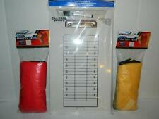 Football Coaching Board Dry Erase 8 Mesh Practice Vests Scrimmage Yellow Red New