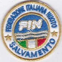 [Patch] FIN FEDERAZIONE ITALIANA NUOTO diametro cm 5 toppa ricamo REPLICA -1053