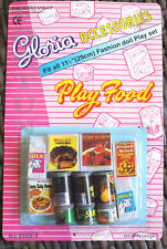 2 GLORIA DOLL HOUSE FURNITURE Fridge Food(95022) Sets FOR BARBIE 5+yrs old
