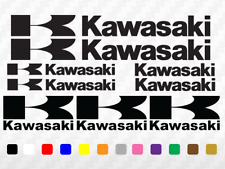 KAWASAKI Motorbike Decals Tank Fairing Helmet Motorcycle Vinyl Stickers set