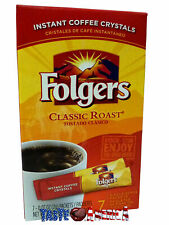 Folgers Instant Coffee Crystals On The Go 7 Servings 14g BB 28/7/19
