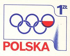 POLAND 1975 mint Postcard Cp#629 First Olympic gold medal for the Polish -