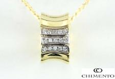 $2,420 Chimento 18K Yellow Gold Round Diamond Supreme Pendant 18'' Necklace