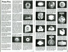 BASEBALL PRESS PIN COLLECTORS GUIDE 1911-1986 RESEARCH & DETAILS ON EVERY PIN