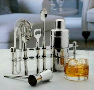 Mikasa Luxe Stainless Steel Bar Set, 6-piece / FREE SHIPPING