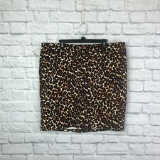 Leopard Pencil Skirt Size 18