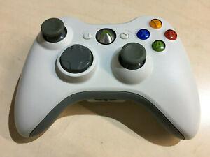 Official Genuine Original Microsoft Xbox 360 White Wireless Controller Pad