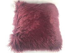 NWOT Martha Stewart Collection Mongolian Faux Fur Pillow 20in x 20in Square Burg