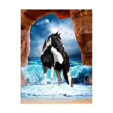 DIY 5D Diamond Painting Horse Embroidery Cross Stitch Kit Home Decor Craft