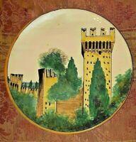 antico Piatto ceramica F.A.M.A. Ascoli Piceno ex MATRICARDI ,MARCHE - FAMA,Torre