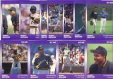 Lot of 50 1990 Star Barry Bonds Error 11 Card Sets (10 Say Bobby Bonds)