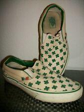 VTG? Vans Classic Slip-On Shoes Shamrock Clover Print Loafer US Mens 7 Women 8.5