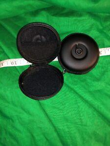 Beats & Monster Earphones Zippered Protective Carry Case Black-with Red Zip